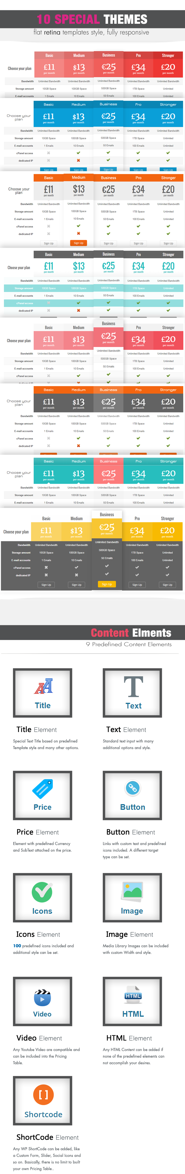 Easy Pricing Tables WordPress Plugin - 4